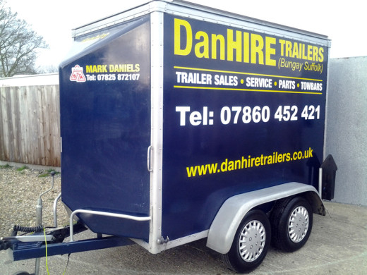 twin axle box van trailer