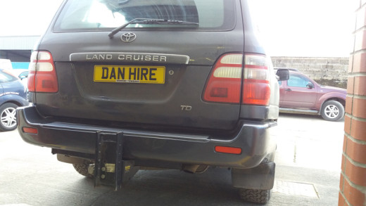 TOWBAR fitted TOYOTA LAND CRUISER