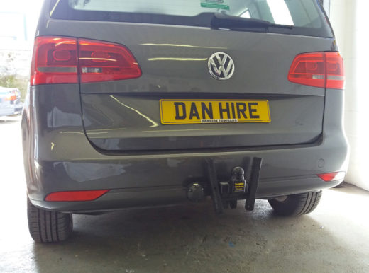 olkswagon Touran  fitted with towbar by Mark at DanHIRE TOWBARS