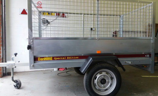 SY 190 Trailer now with New Mesh Sides fitted