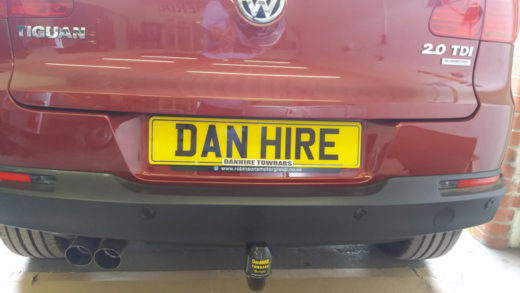 Towbar fitted to VW TIGUAN